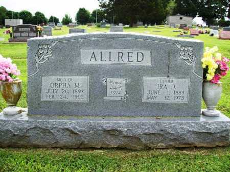 ALLRED, ORPHA M. - Benton County, Arkansas | ORPHA M. ALLRED - Arkansas Gravestone Photos