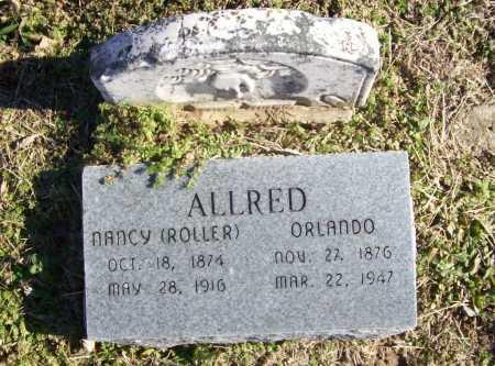 ROLLER ALLRED, NANCY - Benton County, Arkansas   NANCY ROLLER ALLRED - Arkansas Gravestone Photos
