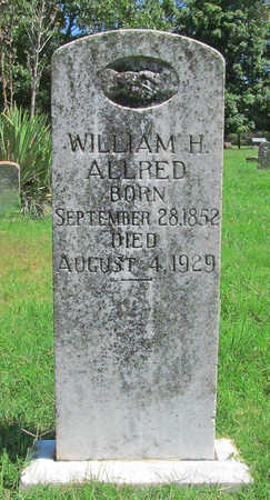 ALLRED, WILLIAM H - Benton County, Arkansas | WILLIAM H ALLRED - Arkansas Gravestone Photos