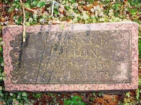 ALTON, CARLYSS F. - Benton County, Arkansas | CARLYSS F. ALTON - Arkansas Gravestone Photos