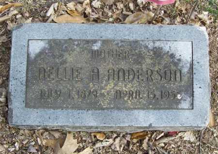 ANDERSON, NELLIE A. - Benton County, Arkansas   NELLIE A. ANDERSON - Arkansas Gravestone Photos