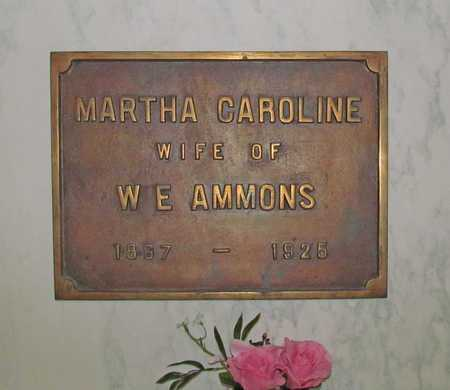 AMMONS, MARTHA CAROLINE - Benton County, Arkansas | MARTHA CAROLINE AMMONS - Arkansas Gravestone Photos