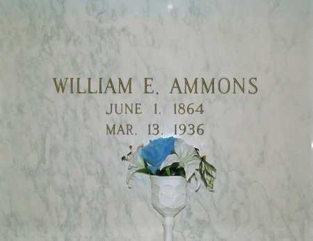 AMMONS, WILLIAM ERWIN - Benton County, Arkansas | WILLIAM ERWIN AMMONS - Arkansas Gravestone Photos