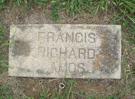 AMOS, FRANCIS RICHARD - Benton County, Arkansas | FRANCIS RICHARD AMOS - Arkansas Gravestone Photos