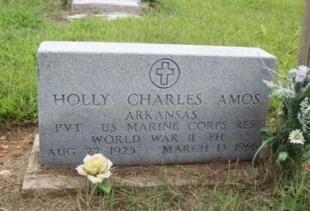 AMOS (VETERAN WWII), HOLLY CHARLES - Benton County, Arkansas | HOLLY CHARLES AMOS (VETERAN WWII) - Arkansas Gravestone Photos