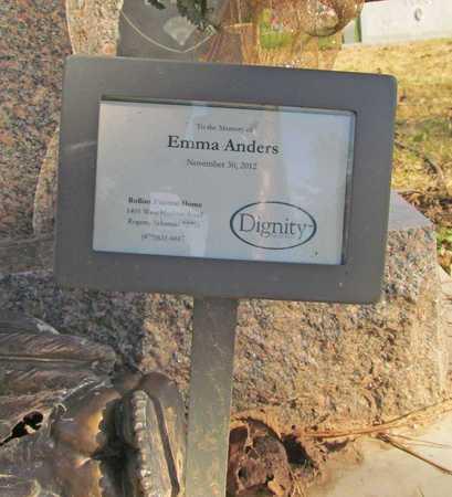ANDERS, EMMA - Benton County, Arkansas | EMMA ANDERS - Arkansas Gravestone Photos