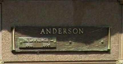 ANDERSON, LAWRENCE L DR - Benton County, Arkansas   LAWRENCE L DR ANDERSON - Arkansas Gravestone Photos
