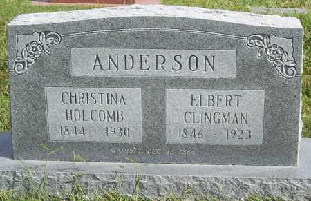ANDERSON (VETERAN CSA), ELBERT CLINGMAN - Benton County, Arkansas   ELBERT CLINGMAN ANDERSON (VETERAN CSA) - Arkansas Gravestone Photos