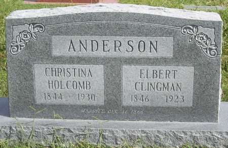 ANDERSON (VETERAN CSA), ELBERT CLINGMAN - Benton County, Arkansas | ELBERT CLINGMAN ANDERSON (VETERAN CSA) - Arkansas Gravestone Photos