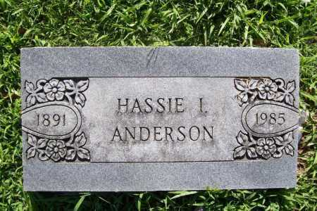 ANDERSON, HASSIE I. - Benton County, Arkansas | HASSIE I. ANDERSON - Arkansas Gravestone Photos
