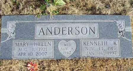 ANDERSON, MARY HELEN - Benton County, Arkansas | MARY HELEN ANDERSON - Arkansas Gravestone Photos