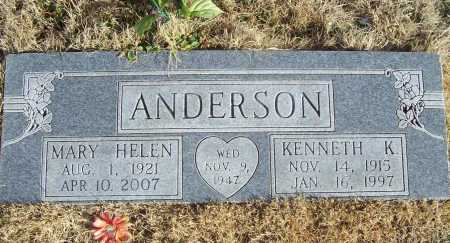 BLAND ANDERSON, MARY HELEN - Benton County, Arkansas | MARY HELEN BLAND ANDERSON - Arkansas Gravestone Photos
