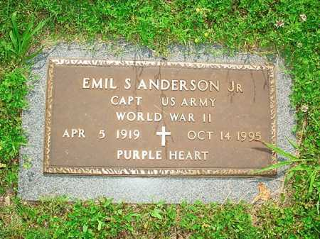 ANDERSON, JR (VETERAN WWII), EMIL SHIRLEY - Benton County, Arkansas | EMIL SHIRLEY ANDERSON, JR (VETERAN WWII) - Arkansas Gravestone Photos