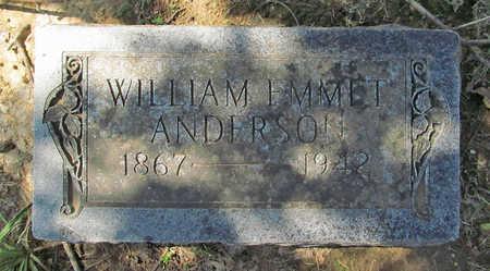 ANDERSON, WILLIAM EMMET - Benton County, Arkansas | WILLIAM EMMET ANDERSON - Arkansas Gravestone Photos