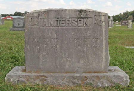 ANDERSON, WILLIAM N - Benton County, Arkansas | WILLIAM N ANDERSON - Arkansas Gravestone Photos
