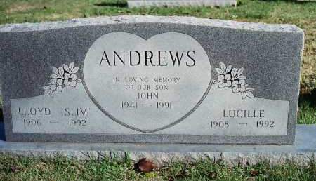 "ANDREWS, LLOYD ""SLIM"" - Benton County, Arkansas   LLOYD ""SLIM"" ANDREWS - Arkansas Gravestone Photos"