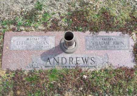 ANDREWS, WILLIAM JOHN - Benton County, Arkansas | WILLIAM JOHN ANDREWS - Arkansas Gravestone Photos