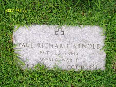 ARNOLD (VETERAN WWII), PAUL RICHARD - Benton County, Arkansas | PAUL RICHARD ARNOLD (VETERAN WWII) - Arkansas Gravestone Photos