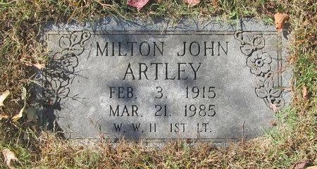 ARTLEY, MILTON JOHN - Benton County, Arkansas | MILTON JOHN ARTLEY - Arkansas Gravestone Photos