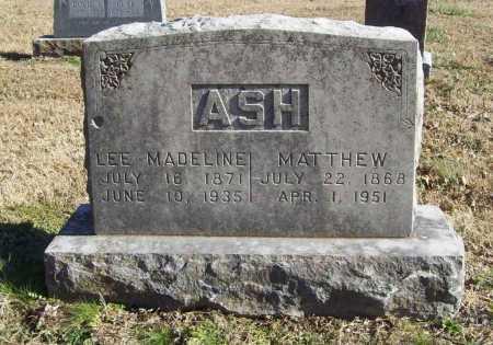 ASH, MATTHEW - Benton County, Arkansas | MATTHEW ASH - Arkansas Gravestone Photos
