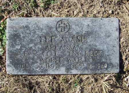 ASH (VETERAN WWI), LEE A - Benton County, Arkansas | LEE A ASH (VETERAN WWI) - Arkansas Gravestone Photos