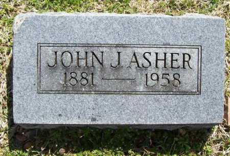 ASHER, JOHN J. - Benton County, Arkansas   JOHN J. ASHER - Arkansas Gravestone Photos