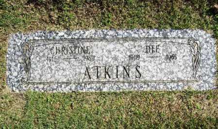 ATKINS, DEE - Benton County, Arkansas | DEE ATKINS - Arkansas Gravestone Photos