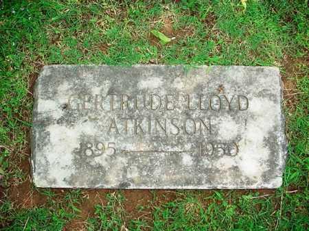 LLOYD ATKINSON, GERTRUDE - Benton County, Arkansas | GERTRUDE LLOYD ATKINSON - Arkansas Gravestone Photos