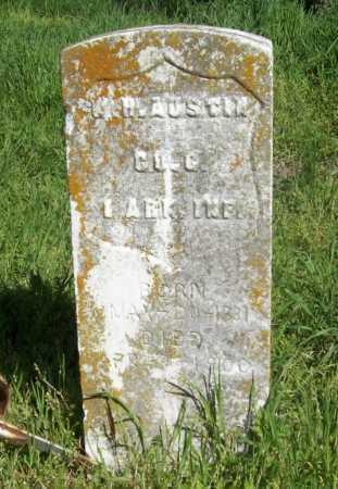 AUSTIN (VETERAN UNION), W H - Benton County, Arkansas   W H AUSTIN (VETERAN UNION) - Arkansas Gravestone Photos