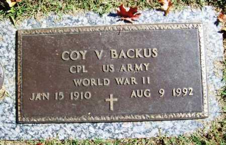 BACKUS (VETERAN WWII), COY V - Benton County, Arkansas | COY V BACKUS (VETERAN WWII) - Arkansas Gravestone Photos