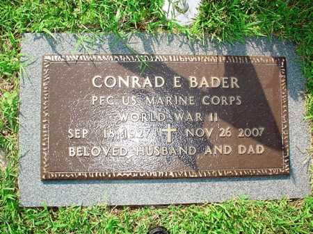BADER (VETERAN WWII), CONRAD E. - Benton County, Arkansas   CONRAD E. BADER (VETERAN WWII) - Arkansas Gravestone Photos