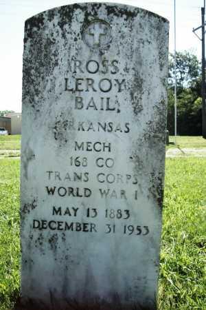 BAIL (VETERAN WWI), ROSS LEROY - Benton County, Arkansas | ROSS LEROY BAIL (VETERAN WWI) - Arkansas Gravestone Photos