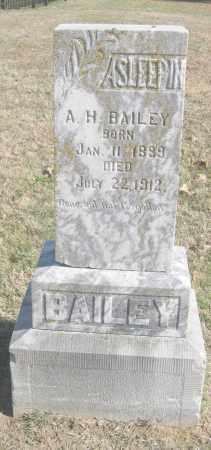 BAILEY, A. H. - Benton County, Arkansas   A. H. BAILEY - Arkansas Gravestone Photos