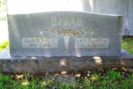COOPER BAKER, MARY - Benton County, Arkansas | MARY COOPER BAKER - Arkansas Gravestone Photos