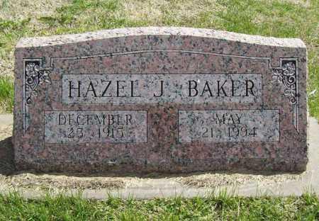 BAKER, HAZEL J. - Benton County, Arkansas | HAZEL J. BAKER - Arkansas Gravestone Photos