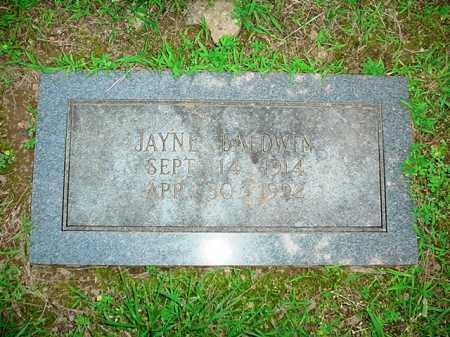 BALDWIN, JAYNE - Benton County, Arkansas | JAYNE BALDWIN - Arkansas Gravestone Photos