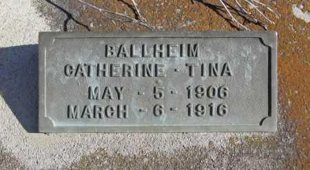 BALLHEIM, CATHERINE TINA - Benton County, Arkansas | CATHERINE TINA BALLHEIM - Arkansas Gravestone Photos