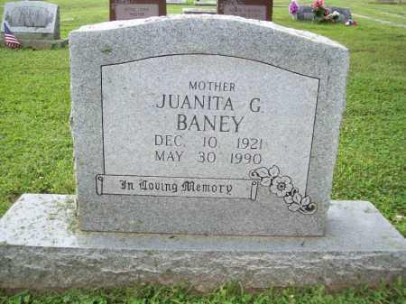 BANEY, JUANITA G. - Benton County, Arkansas | JUANITA G. BANEY - Arkansas Gravestone Photos
