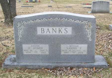 BANKS, F HOMER - Benton County, Arkansas | F HOMER BANKS - Arkansas Gravestone Photos