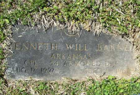 BARNES (VETERAN), KENNETH WILL - Benton County, Arkansas | KENNETH WILL BARNES (VETERAN) - Arkansas Gravestone Photos