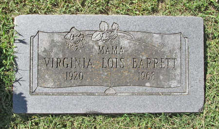 BARRETT, VIRGINIA LOIS - Benton County, Arkansas | VIRGINIA LOIS BARRETT - Arkansas Gravestone Photos