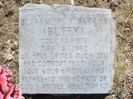 "BARRON, BUFFAMORE T. ""BUFFY"" - Benton County, Arkansas | BUFFAMORE T. ""BUFFY"" BARRON - Arkansas Gravestone Photos"