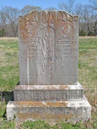 BLANKENSHIP BASINGER, ISABELLA MALINDA - Benton County, Arkansas | ISABELLA MALINDA BLANKENSHIP BASINGER - Arkansas Gravestone Photos
