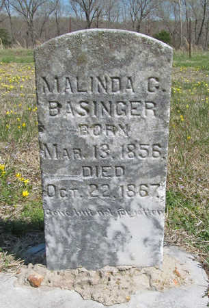 BASINGER, MALINDA G - Benton County, Arkansas | MALINDA G BASINGER - Arkansas Gravestone Photos