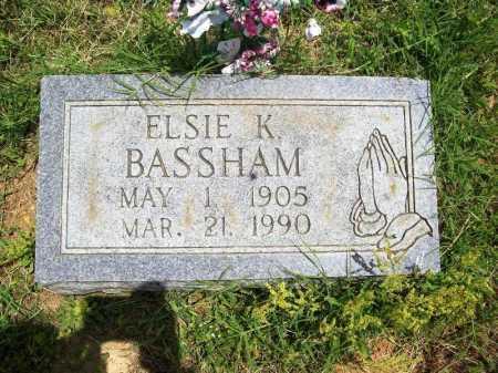 BASSHAM, ELSIE K. - Benton County, Arkansas | ELSIE K. BASSHAM - Arkansas Gravestone Photos