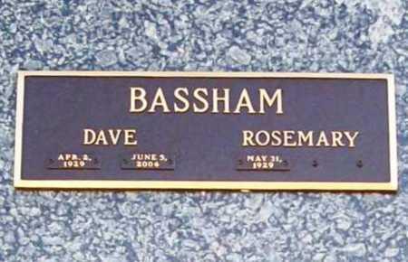 BASSHAM (VETERAN), DAVE - Benton County, Arkansas | DAVE BASSHAM (VETERAN) - Arkansas Gravestone Photos