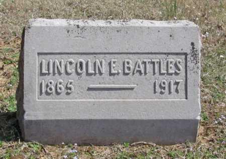 BATTLES, LINCOLN E. - Benton County, Arkansas | LINCOLN E. BATTLES - Arkansas Gravestone Photos
