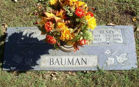 BAUMAN, VINA - Benton County, Arkansas | VINA BAUMAN - Arkansas Gravestone Photos