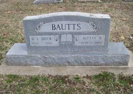 BAUTTS, KITTYE B. - Benton County, Arkansas | KITTYE B. BAUTTS - Arkansas Gravestone Photos