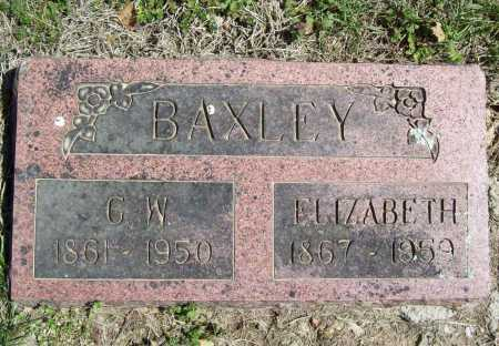 BAXLEY, G. W. - Benton County, Arkansas | G. W. BAXLEY - Arkansas Gravestone Photos